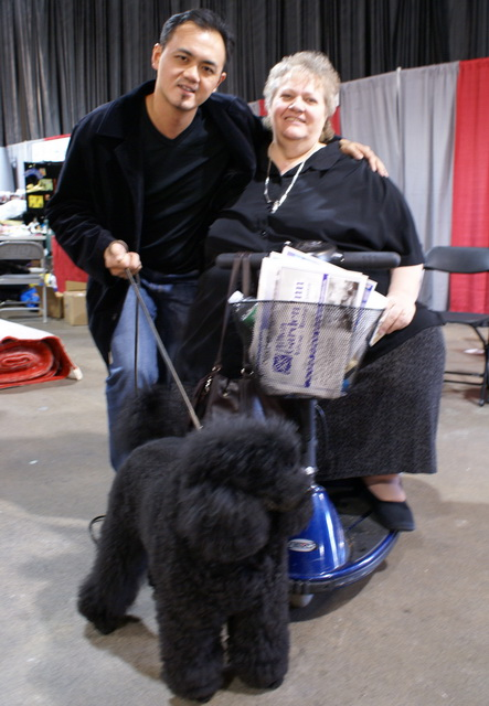Mr. Gan with Ms Sally Liddick, editor of Groomers  To Groomers magazine