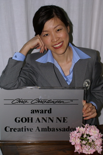 Ms Annie with Chris Christensen Creative Ambassador Award 2006/2007