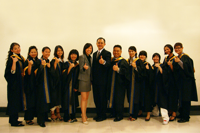 HOGA students graduating at Open University Malaysia convocation 2009
