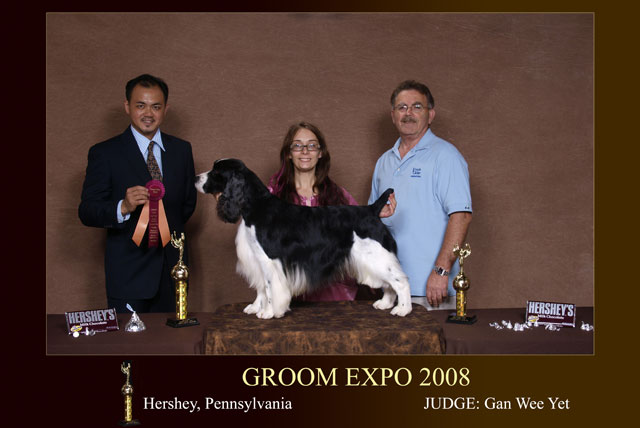 Principal, Mr. Gan Wee Yet being the only appointed  judge from South East Asia, judged at Groom Expo, USA