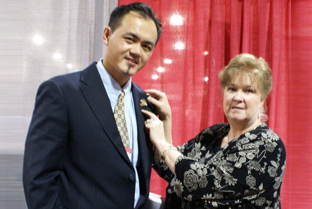 Mr. Gan With Ms Pamela Lauritzen, ISCC President & Founder